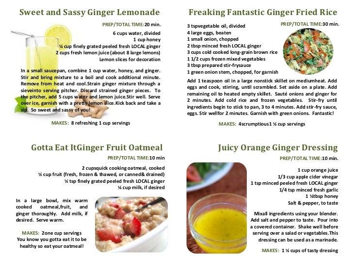 Sweet and Sassy Ginger Lemonade                                         Freaking Fantastic Ginger Fried Rice              ...