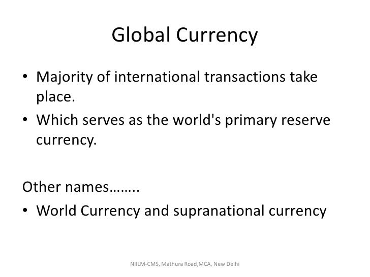 New Global Currency