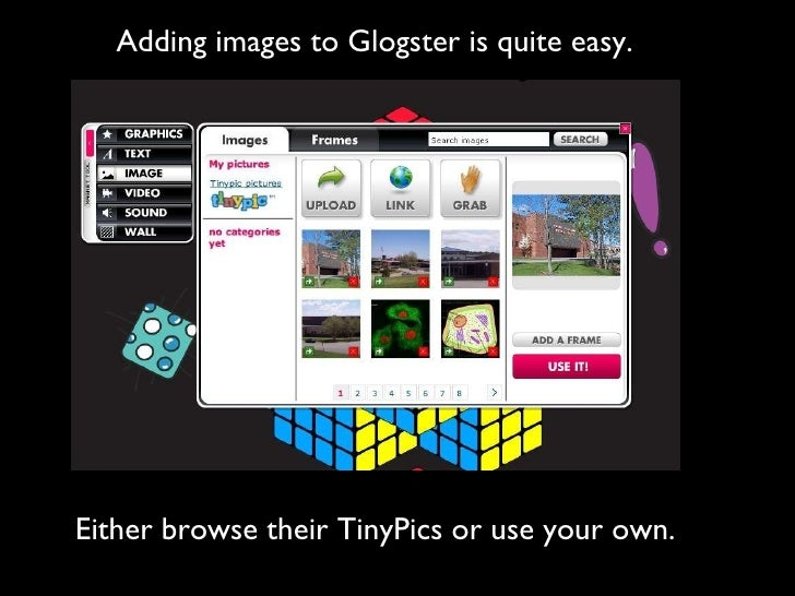 how to edit work on glogster