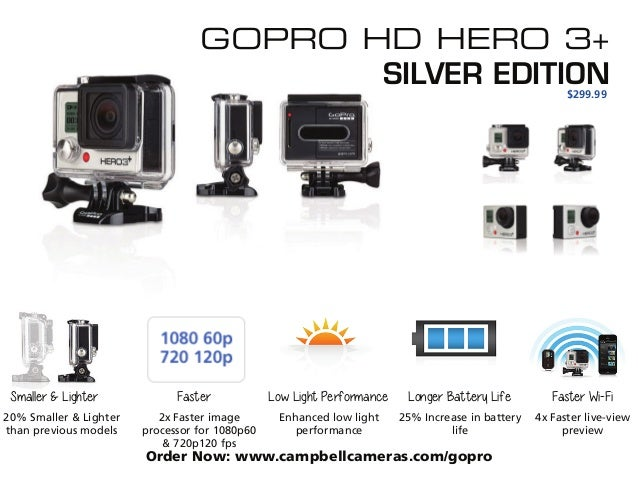 ... 4. GOPRO HD HERO 3+ ...  sc 1 st  SlideShare & Introducing the new GoPro HD HERO 3+ azcodes.com