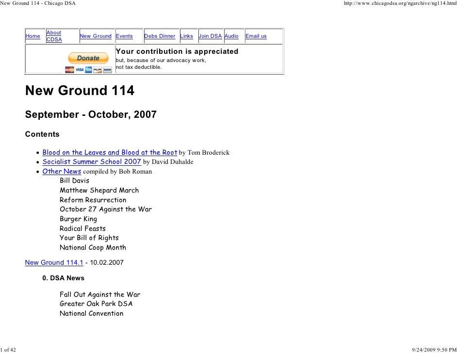 New Ground 114 - Chicago DSA                                                                      http://www.chicagodsa.or...