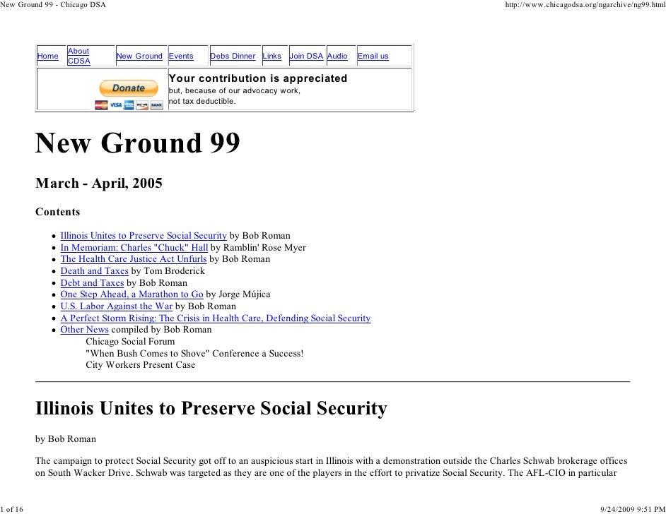 New Ground 99 - Chicago DSA                                                                                               ...