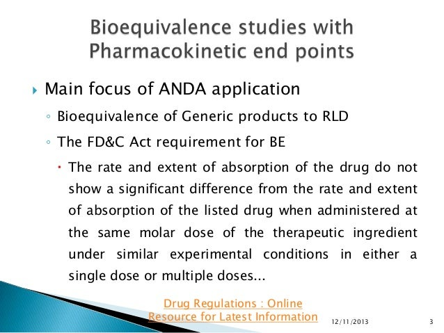 Generic Drug and Bioequivalence Studies - ScienceDirect