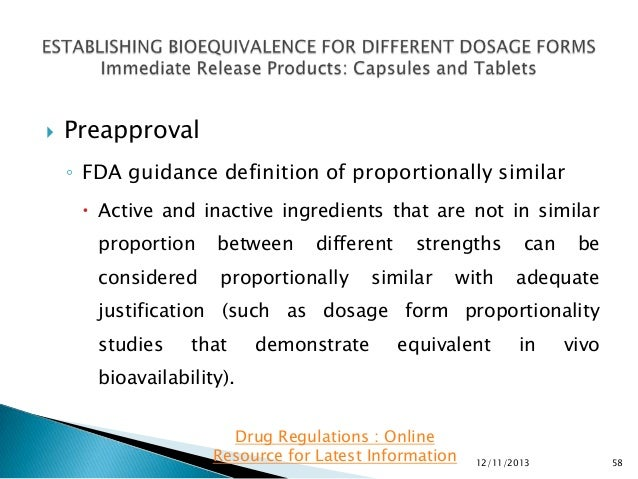 Bioequivalence study definition of