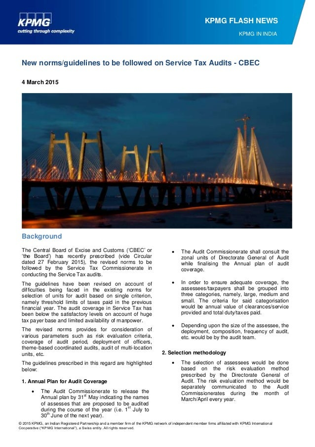 © 2015 KPMG, an Indian Registered Partnership and a member firm of the KPMG network of independent member firms affiliated...