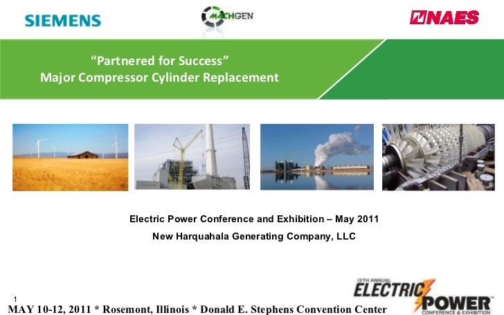 """"""" Partnered for Success"""" Major Compressor Cylinder Replacement Electric Power Conference and Exhibition – May 2011 New Har..."""