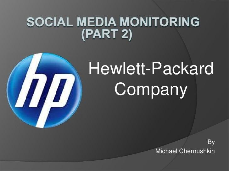 Hewlett-Packard  Company                        By        Michael Chernushkin