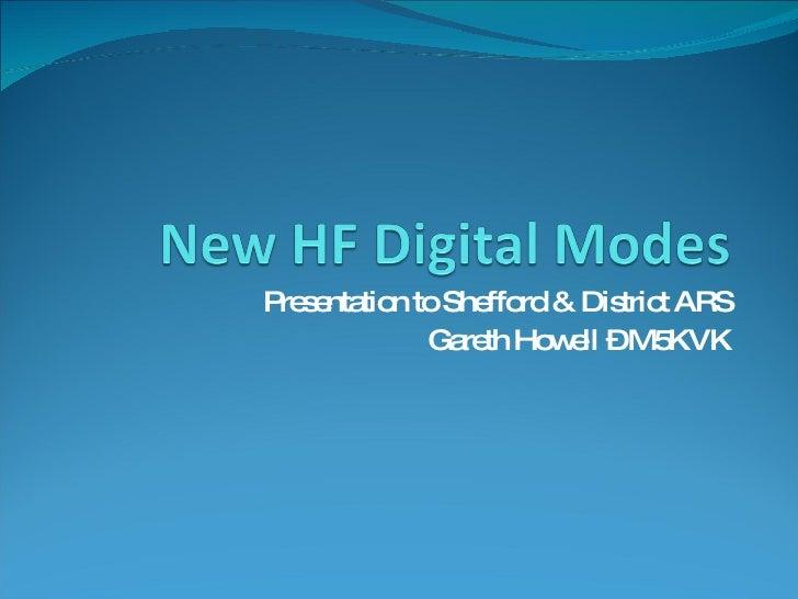 Presentation to Shefford & District ARS Gareth Howell – M5KVK