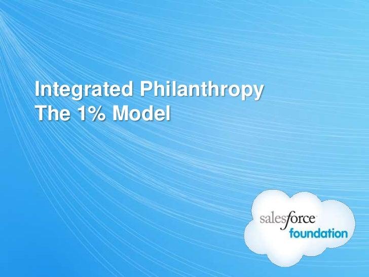 Integrated PhilanthropyThe 1% Model