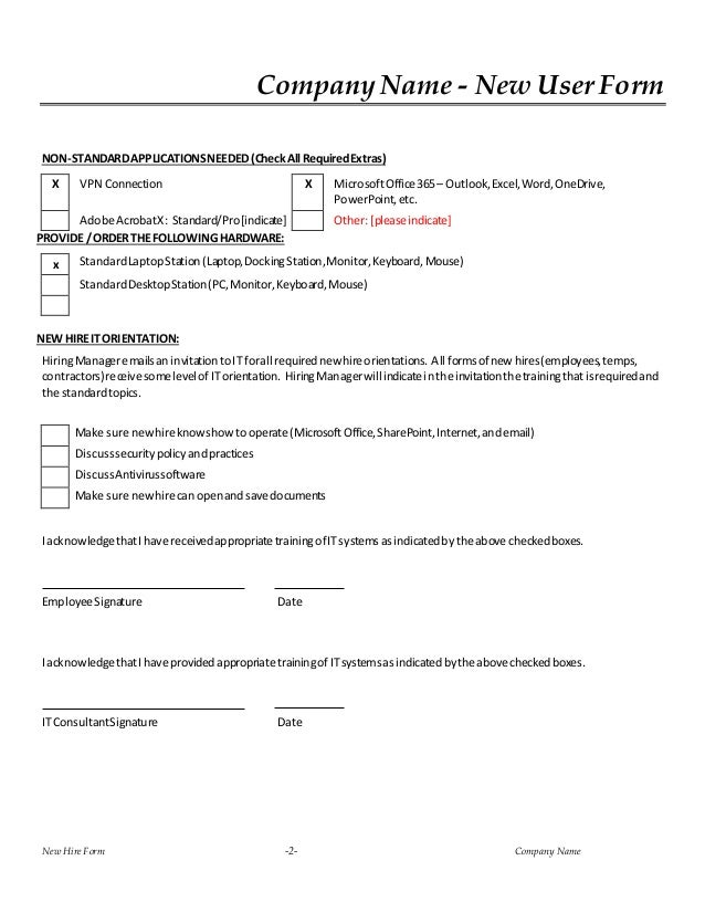Hire It Request Form