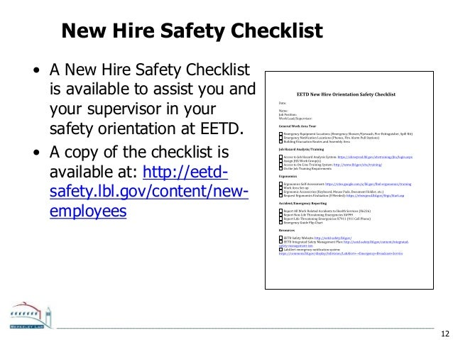New Hire Safety Orientation by ETA Safety