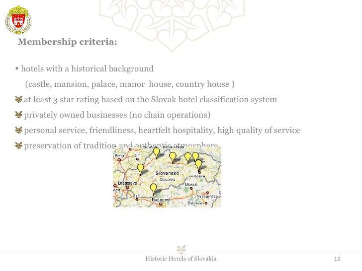 <ul><li> hotels with a historical background  </li></ul><ul><li>(castle, mansion, palace, manor  house, country house ) <...
