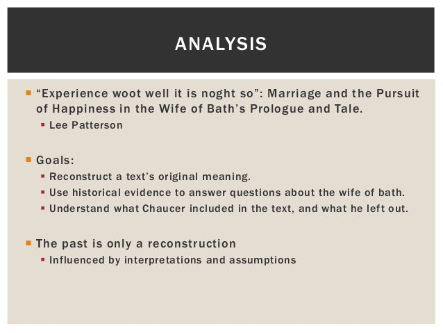 an analysis of the wife of bath portrayed as a hypocrite by chaucer Answers chaucer flourishes the  the wife of bath,  juvenal he quotes from and mentions by name and these he portrayed with a minute and particular.