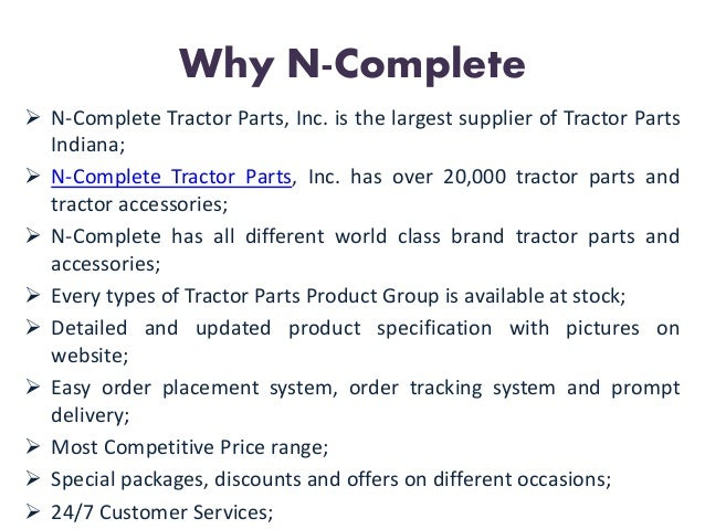 Combine Parts Of The Slideshow : New holland ford tractor parts at n complete inc
