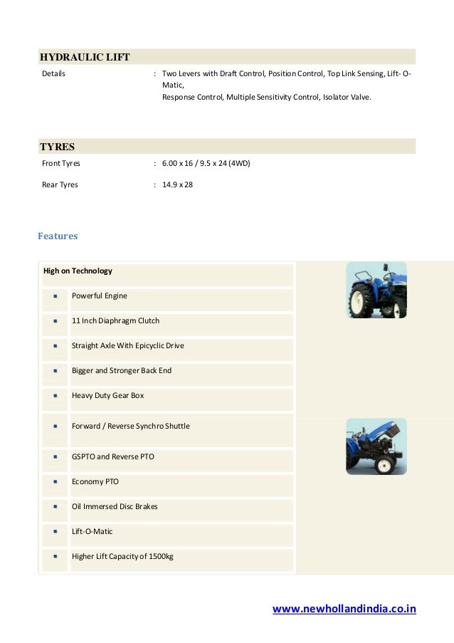 New Holland Hp Tractors Manufacturing Company In India