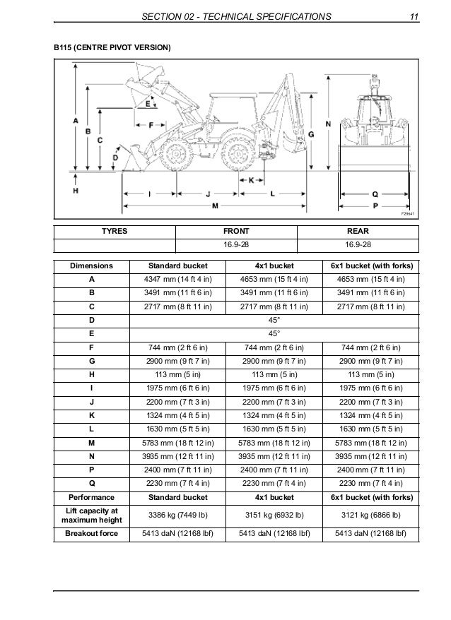 New holland b110 backhoe loader service repair manual on