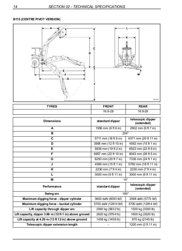 new holland b110 backhoe loader service repair manual rh slideshare net