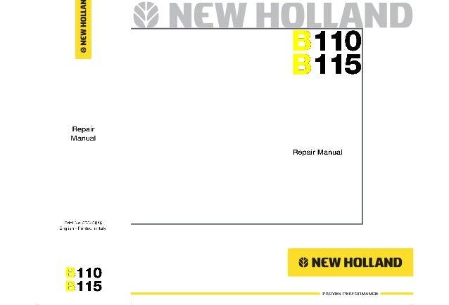 New holland b115 backhoe loader service repair manual on