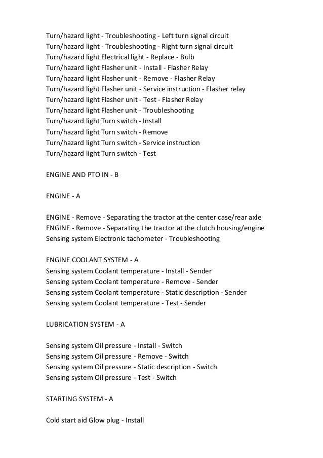 New Holland Boomer 20 25 30 35 Repair Manual on