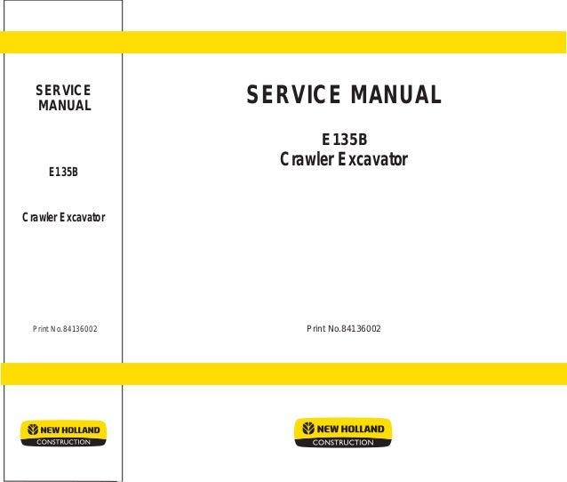 New holland kobelco e135 b crawler excavator service repair manual