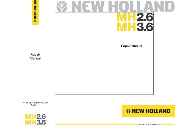 New holland mh3 6 tier ⅲ wheel excavator service repair manual