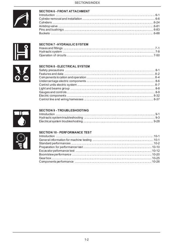 New holland mh3.6 midi wheel excavator service repair manual