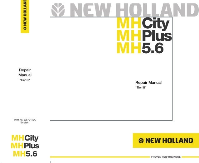 New holland mh plus wheel excavator service repair manual on