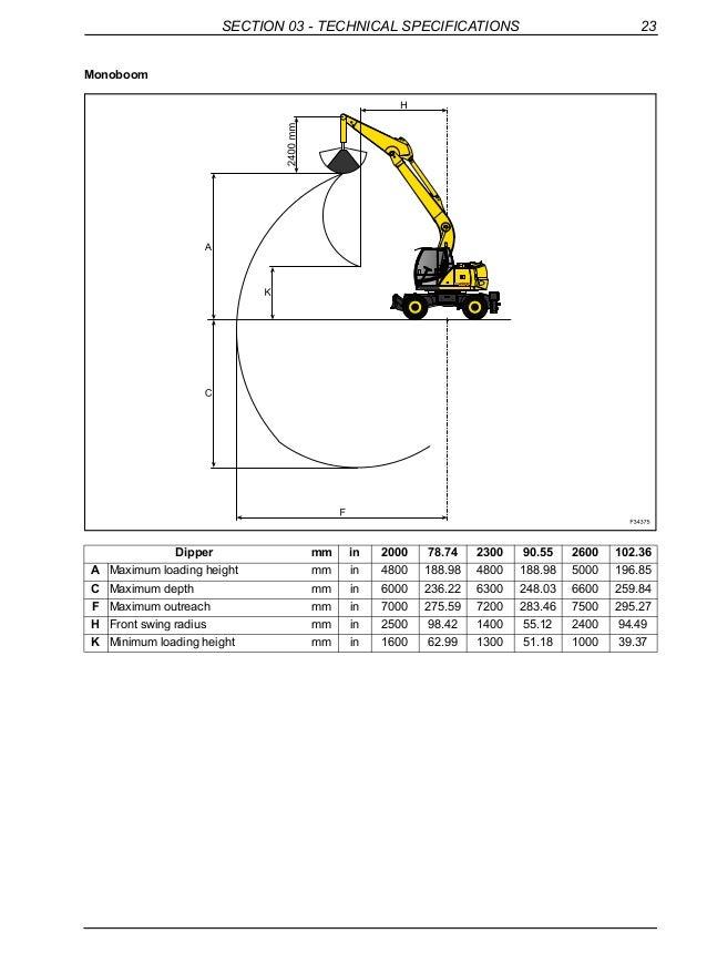 New holland mh plus wheel excavator service repair manual