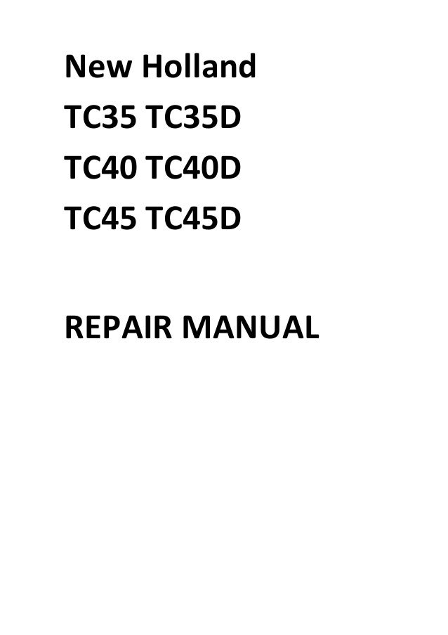 new holland tc40da repair manual