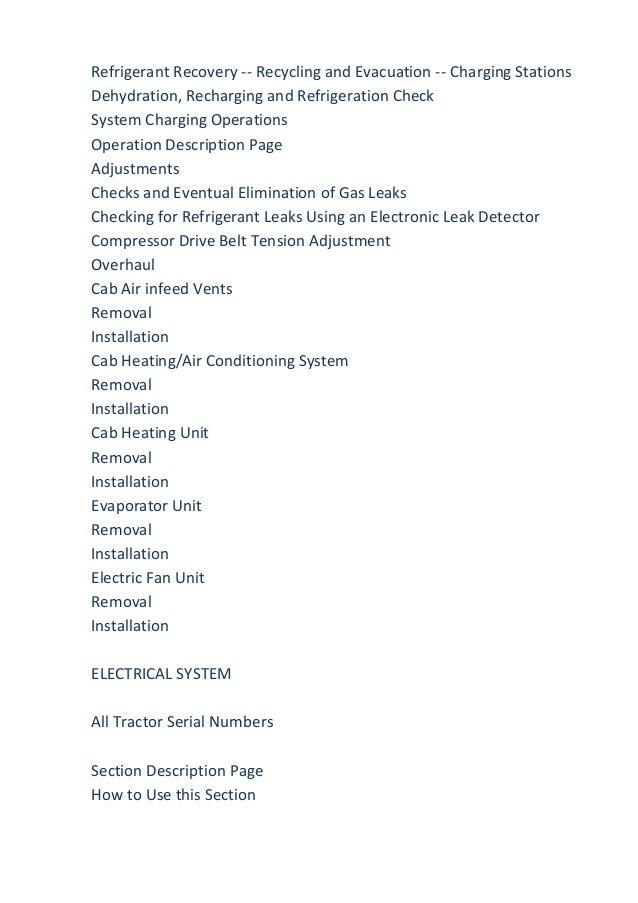 New holland tn 75 D Specs operators manual Pdf on