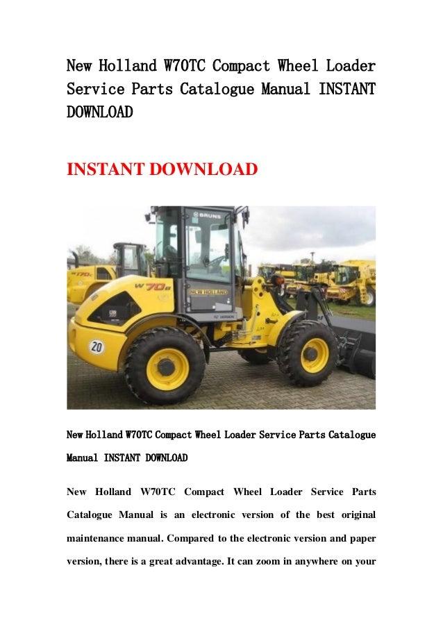 new holland lb75b parts manual
