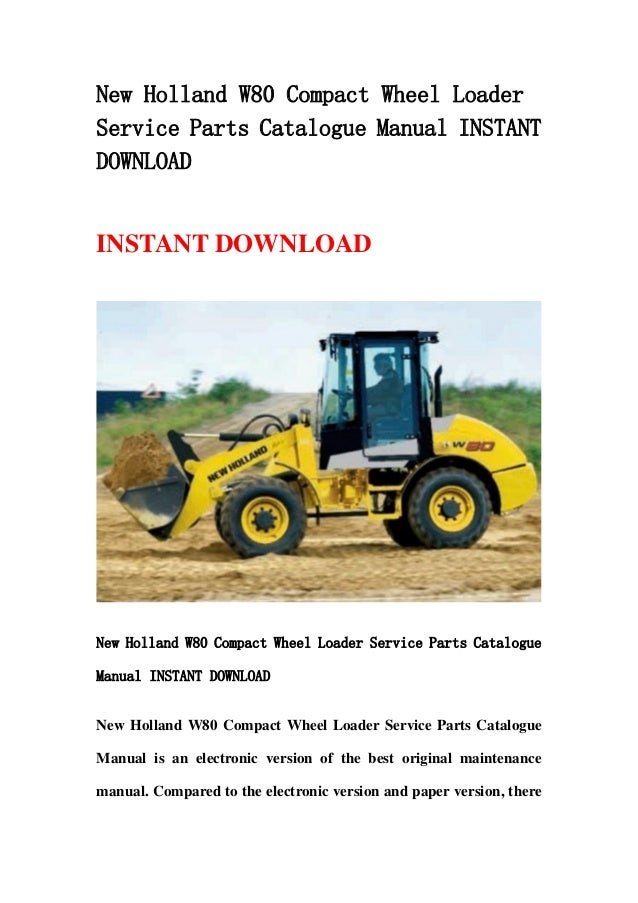 new holland br7070 service manual
