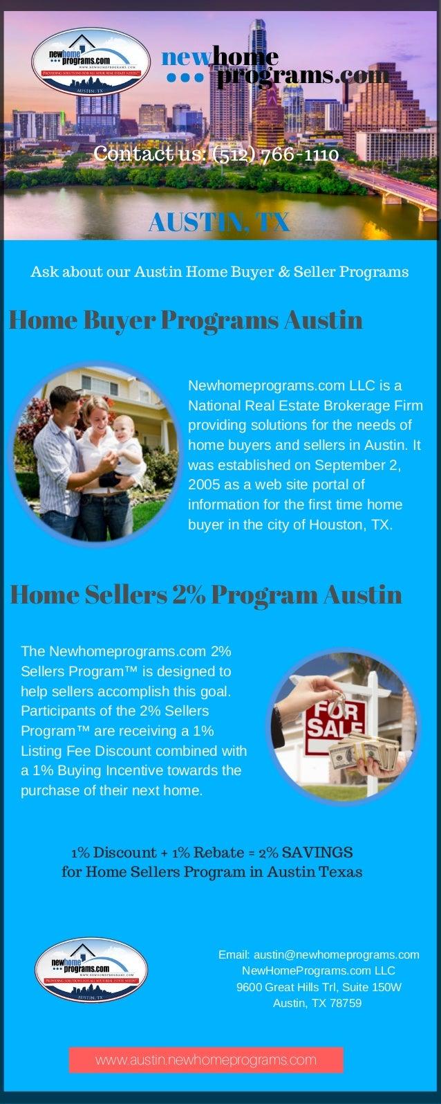 First Time New Home Buyer Program - Austin, TX