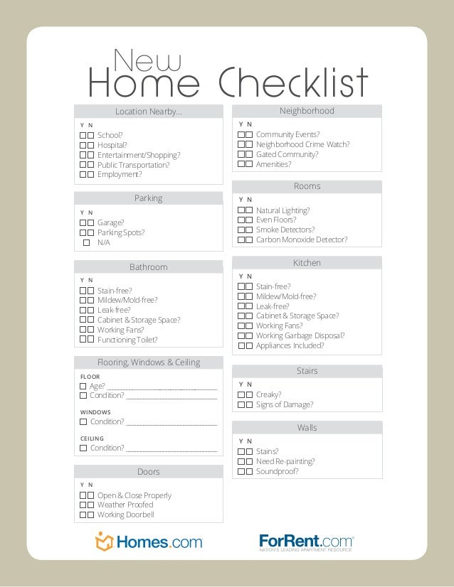 Unique 70 New Home Checklist Decorating Design Of Best 25