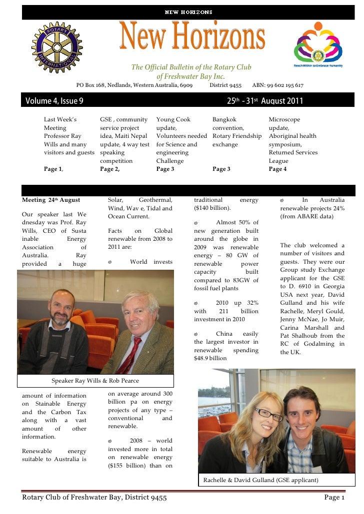 PO Box 168, Nedlands, Western Australia, 6909         District 9455   ABN: 99 602 195 617        Last Week's           GSE...