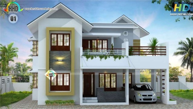 New house plans for june 2016 for Latest architectural house designs
