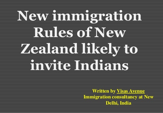 New immigration rules of new zealand