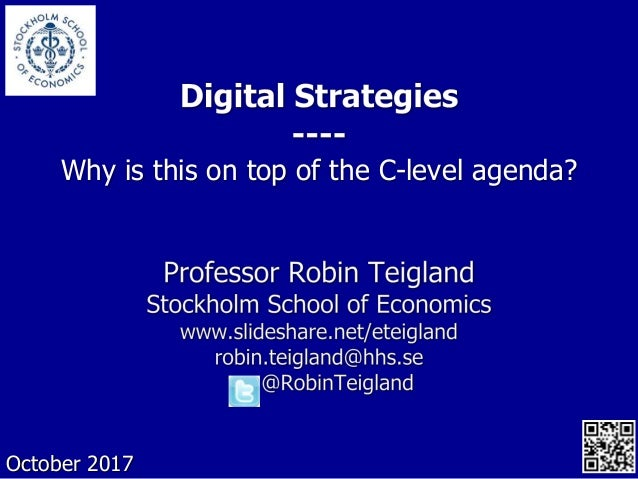Why is this on top of the C-level agenda? October 2017