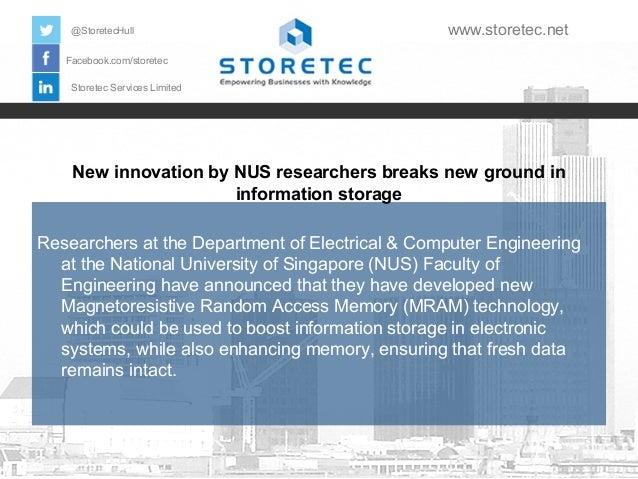 @StoretecHull  www.storetec.net  Facebook.com/storetec Storetec Services Limited  New innovation by NUS researchers breaks...