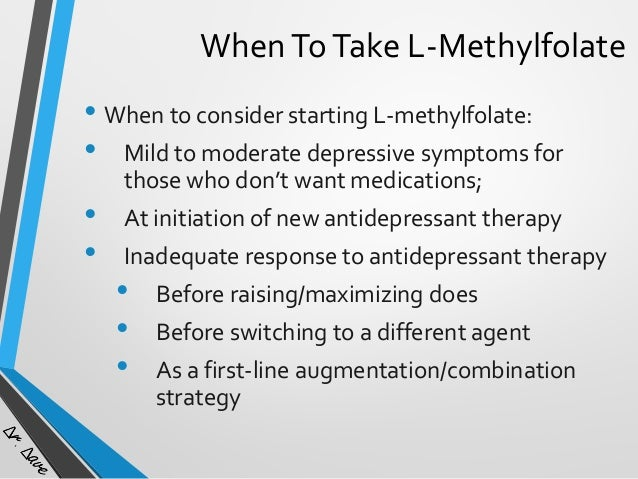 New insights into depression, medications, and L-methylfolate