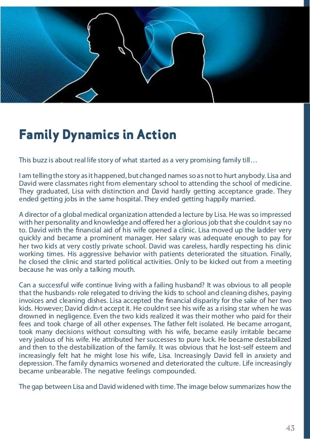 43 Family Dynamics in Action This buzz is about real life story of what started as a very promising family till… I am tell...