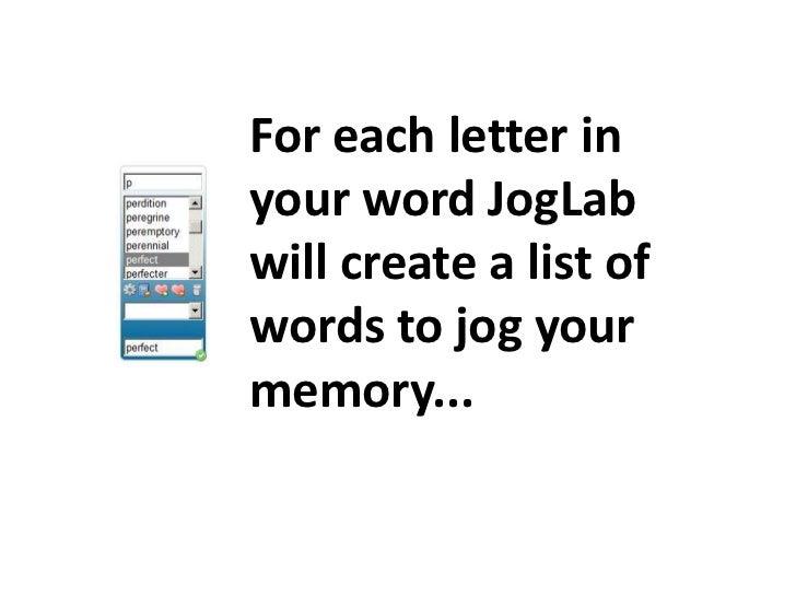 JogLab How To Slide 2