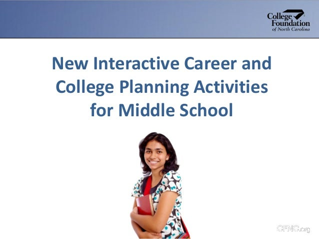 New Interactive Career and College Planning Activities for Middle School