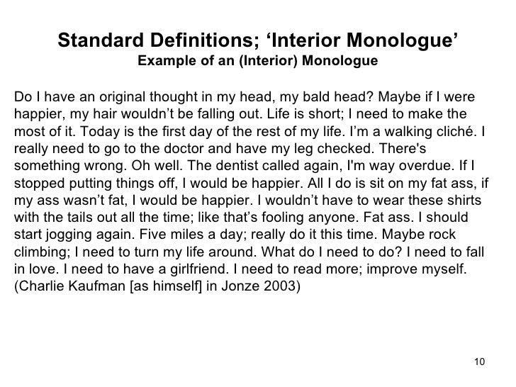 Captivating ... 10. Standard Definitions; U0027Interior Monologueu0027 ...