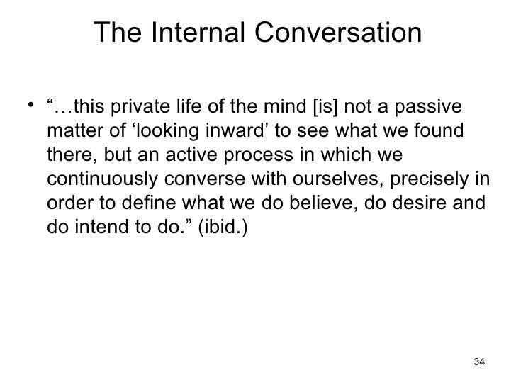 ... 34. The Internal Conversation ...