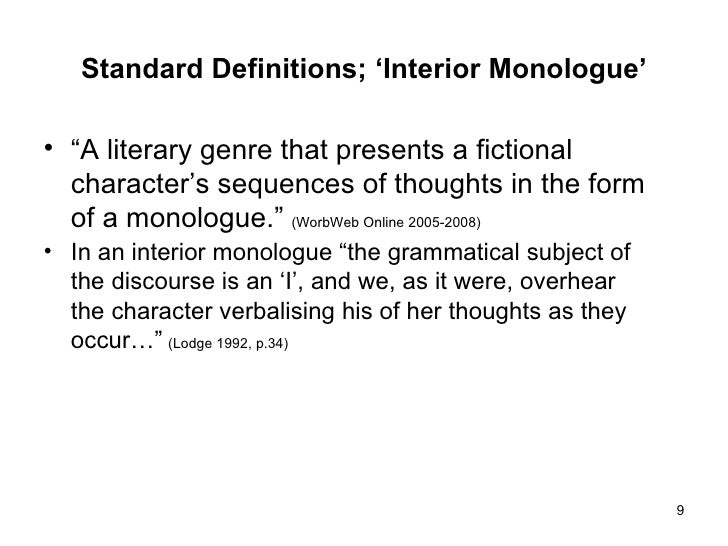 Charming ... 9. Standard Definitions; U0027Interior Monologueu0027 ...