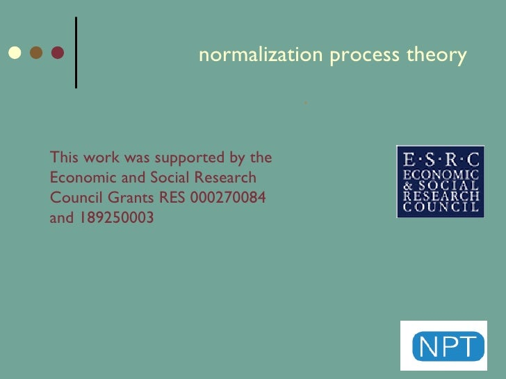 the theory of normalisation The legacy of 'normalisation': the role of classical and contemporary criminological theory in understanding young people's drug use.