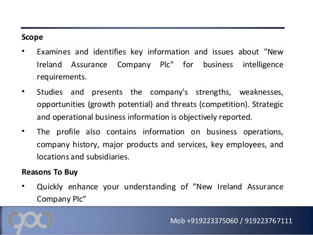 a report on the business profile of ireland Business sectors agriculture  census 2016 profile 3 - an age profile of ireland introduction this report is the third of 11 profile reports from census 2016.