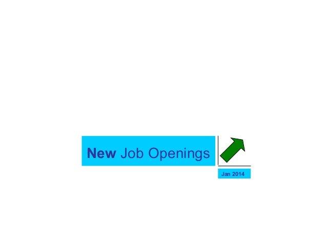 New Job Openings Jan 2014