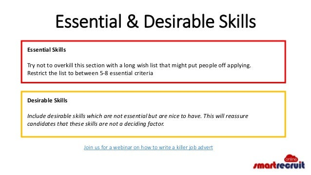 desirable job skills